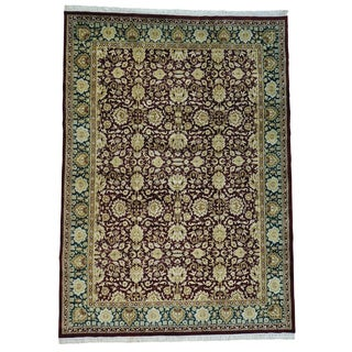 Agra Thick and Plush Pure Wool Handmade Oriental Rug (9'7 x 13'7)