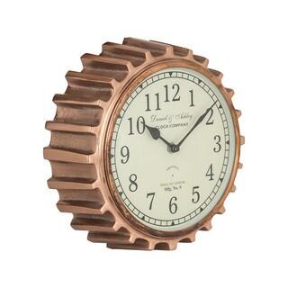 Aged Copper Clock