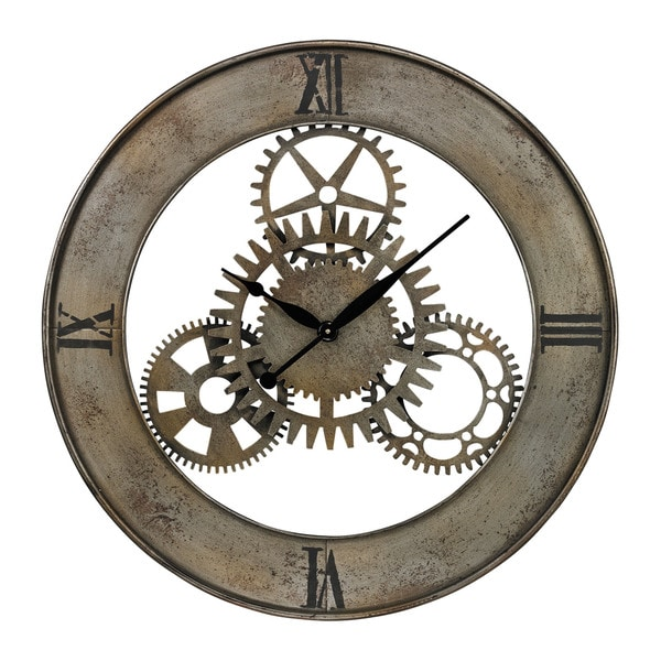 Industrial Cog Wall Clock Free Shipping Today Overstock