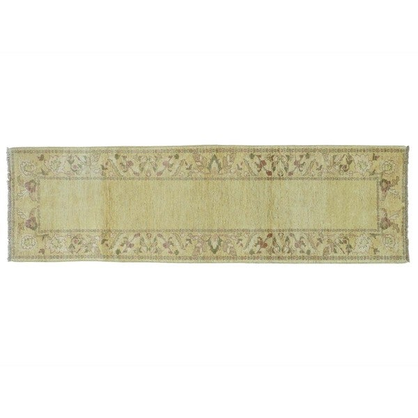 Hand-knotted Agra Runner Wool Oriental Rug (2'10 x 9'8)
