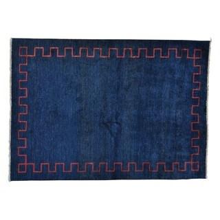 Peshawar Gabbeh Pure Wool Hand-knotted Oriental Rug (5'5 x 7'8)