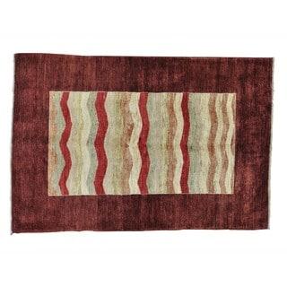 Peshawar Gabbeh Wool Hand-knotted Oriental Rug (4'8 x 7')