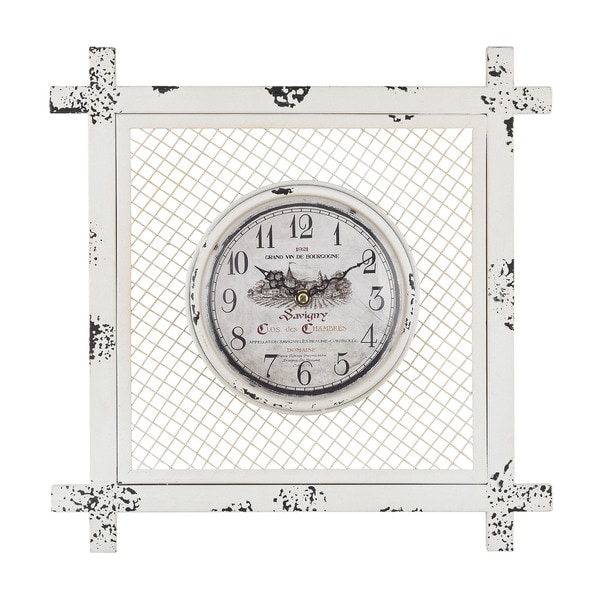 Vintage Style Clock in Square Mesh