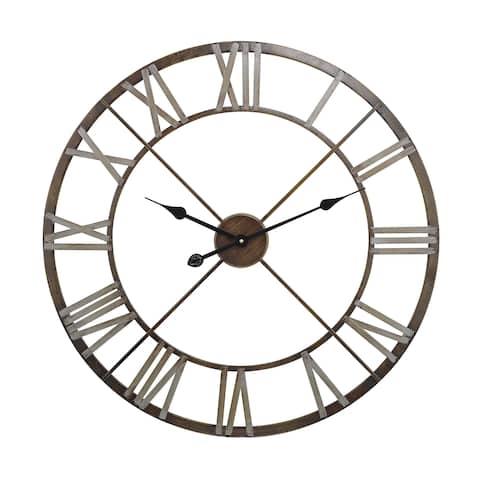 "Sterling Open Center Iron Wall Clock - 27""w x 2""d x 27""h"
