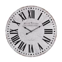 Aged White Wall Clock