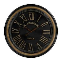 Large Clock with Distressed Hand-painted Frame