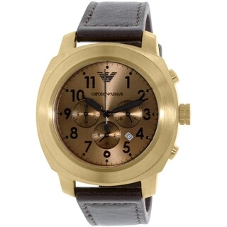 Emporio Armani Men's Sportivo AR6062 Brown Leather Quartz Watch