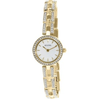 Bulova Women's 98L213 Gold Stainless-Steel Quartz Watch