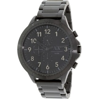 Armani Exchange Men's AX1751 Black Stainless-Steel Quartz Watch