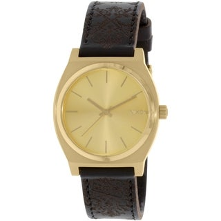 Nixon Men's Time Teller A0451882 Gold Leather Quartz Watch