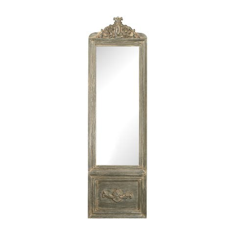Sterling Bastille Floor Mirror - White/Grey