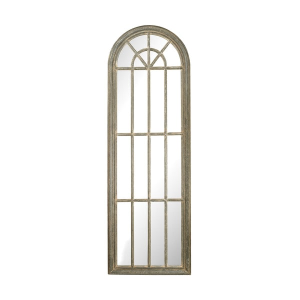 Shop Full Length Arched Window Pane Mirror Free Shipping