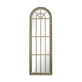 Full Length Arched Window Pane Mirror