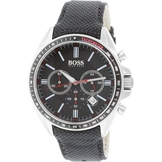 Hugo Boss Men's Driver 1513087 Black Leather Quartz Watch