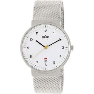 Braun Men's BN0032WHSLMHG Metallic Silver Stainless-Steel Quartz Watch