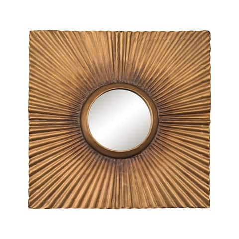 Sterling Terraced Gold Square Panel Mirror