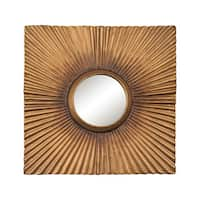 Terraced Gold Panel Mirror