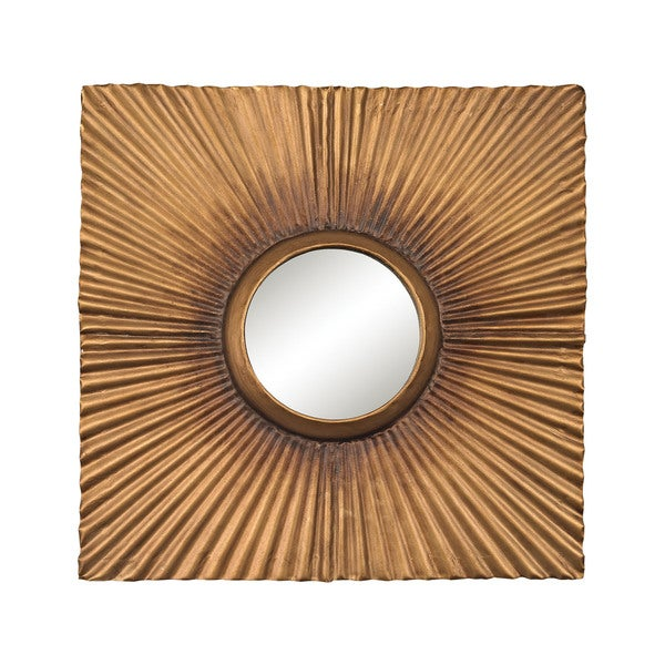 Sterling Terraced Gold Square Panel Mirror - N/A