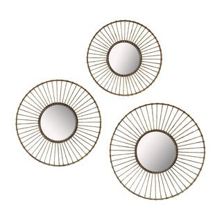 Wirework Wall Mirrors (Set of 3)