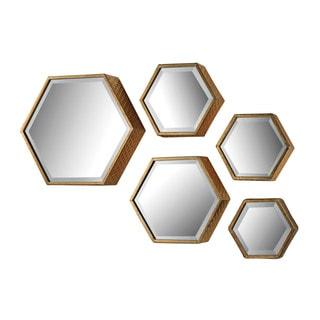 Hexagonal Beveled Mirror (Set of 5)