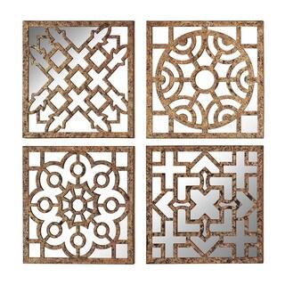 Mirrored Wall Panels (Set of 4)