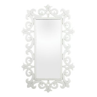 Haylee Glass Scroll Work Framed Mirror