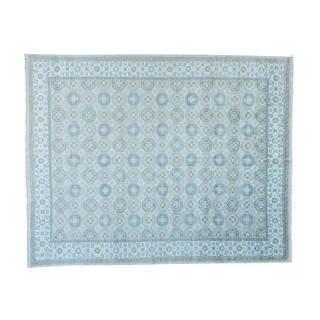 Oversize Handmade Khotan Design Rayon from Bamboo Silk Oriental Rug (12' x 14'10)