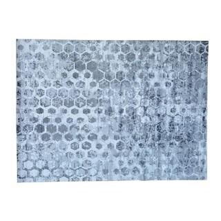 Handmade Rayon from Bamboo Silk Beehive Design Modern Oriental Rug (8'10 x 11'10)