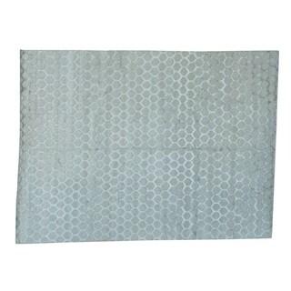 Handmade Wool and Rayon from Bamboo Silk Beehive Design Oriental Rug (10' x 13'5)