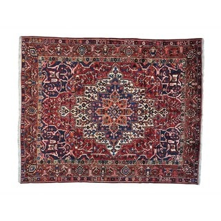 Semi Antique Persian Bakhtiari Hand-knotted Rug (9'10 x 12'1)