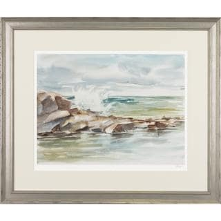 Coastal Watercolor Framed Art Print IV