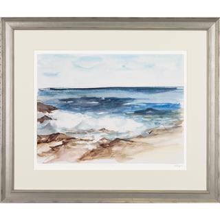 Coastal Watercolor Framed Art Print V