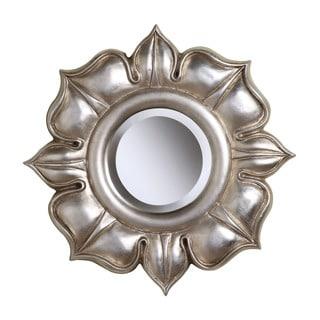 Lotus in Bright Silver Leaf Mirror