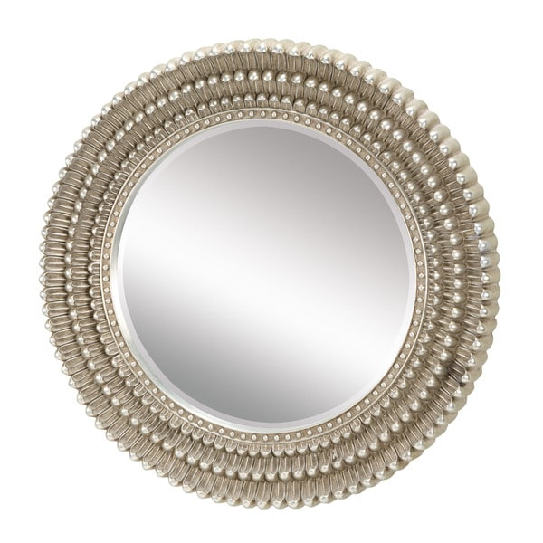 Shop Dahlia In Antique Silver Leaf Mirror Free Shipping