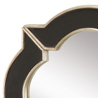 Lilliput 16-inch Wall Mirror in Black and Gold - N/A
