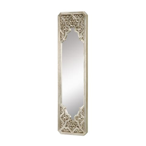 Gothic 39-Inch Wall Mirror in Antique Silver