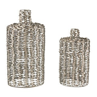 Sterling Metal Work Vases (Set of 2)