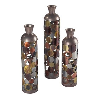 Sterling Rainbow-Lacquered Floor Standing Vases (Set of 3)