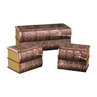 Sterling Antique Book Trunks (Set of 3)