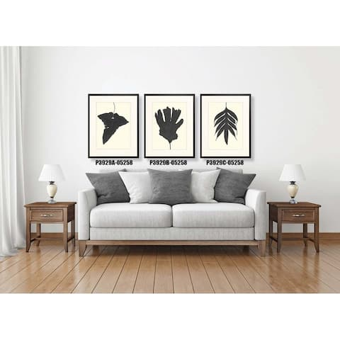 Black Ferns Framed Art Print V - Black Finish