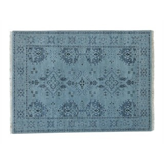 Oushak Hand-knotted Pure Wool Oriental Rug (5' x 6'10)