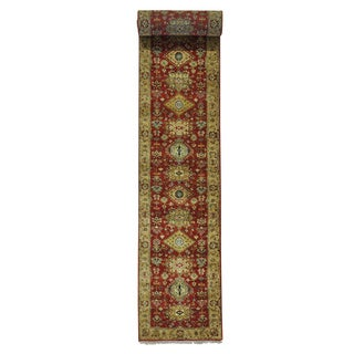 XL Runner Hand-knotted Rust Red Karajeh Oriental Rug (2'7 x 19'10)