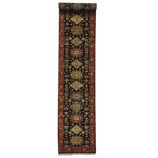 Runner Tribal Design Karajeh Oriental Rug Hand-knotted (2'7 x 13'10)