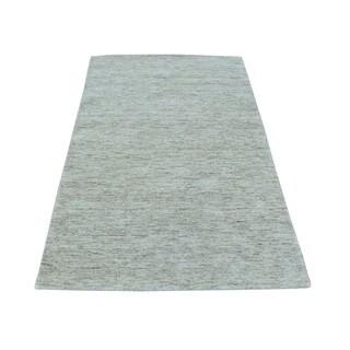Beige Loomed Modern Gabbeh Wool Oriental Rug (3' x 5')
