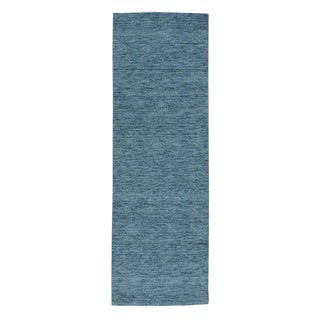 Runner Pure Wool Thick and Plush Loomed Gabbeh Rug (2'7 x 7'8)