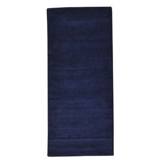 Pure Wool Thick and Plush Runner Loomed Gabbeh Rug (2'6 x 5'9)