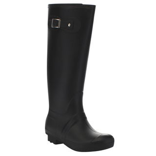 Beston Few35 Women's Tall Knee High House Check Rain Boots