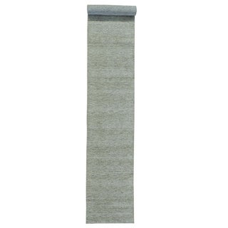 Pure Wool Thick and Plush Loomed Gabbeh XL Runner Rug (2'6 x 16'1)