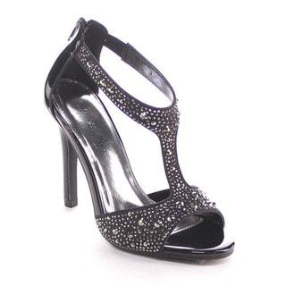 Beston Bb14 Women Rhinestone T-strap Stiletto Dress Shoe