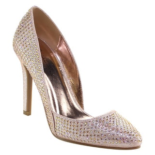 Beston Bb07 Women's Pointy Toe Rhinestone Stiletto